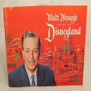 1961 Walt Disney's Guide to Disneyland 27 Pages EC